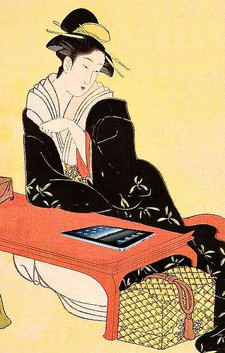 Woman with iPad, after Hiroshige | by Mike Licht, NotionsCapital.com