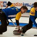 Napanee, ON Feb 12 2011 M&M Canadian Juniors Team Alberta Second Landon Bucholz, Lead Bryce Bucholz. Michael Burns Photo Ltd.