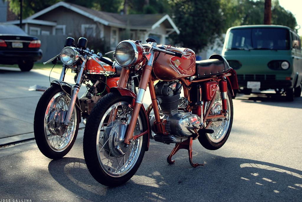 Ernest's Bike. A Benelli 250