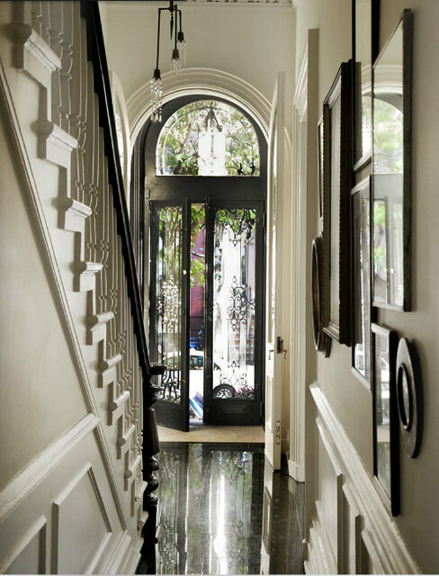 Foyer Ideas For Townhouse : Michelle james robyn lea est black and white
