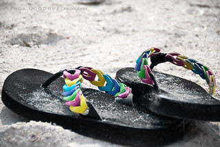 Sandals and surf | by Linda Goodhue