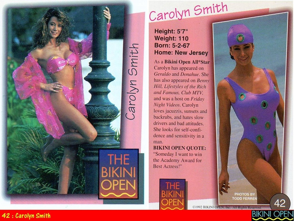 42 : Carolyn Smith | The Bikini Open Trading Cards - 1992 ...