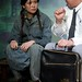 Wild Swans - Katie Leung as Er-Hong and Ron Nakahara as Director Yong (Photo by Chris Nash)