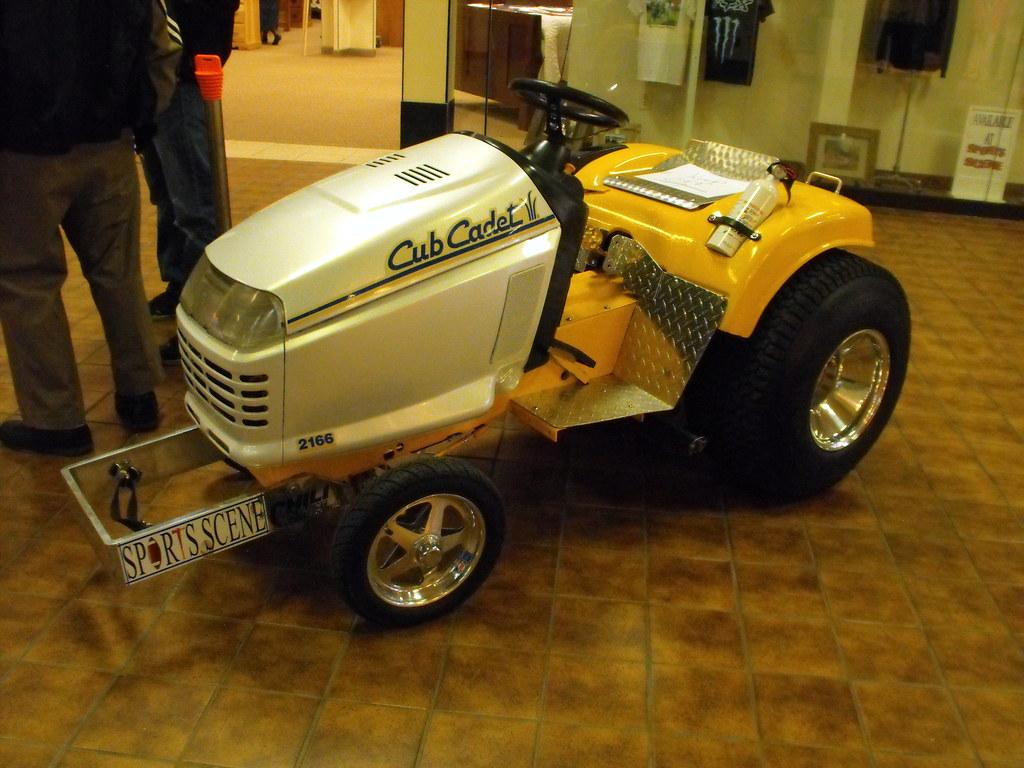 Cub Cadet Pulling Tractors : Sport s scene cub cadet pulling lawn tractor flickr