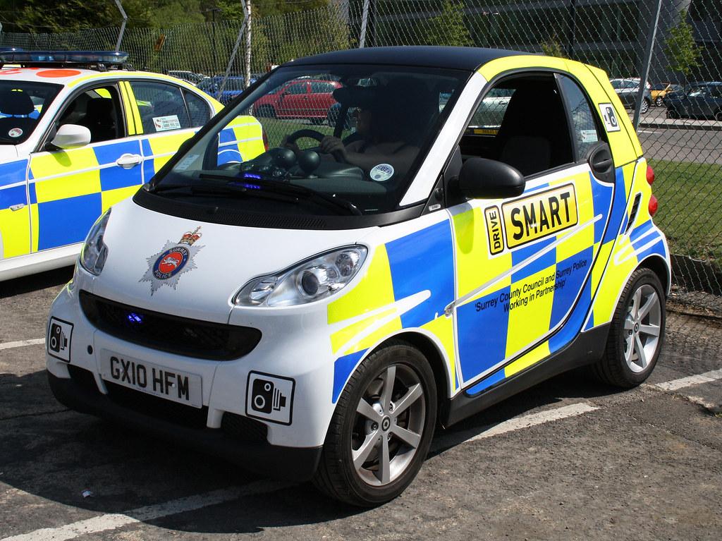 surrey police smart car speed camera campaign vehicle gx. Black Bedroom Furniture Sets. Home Design Ideas