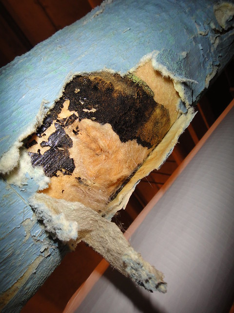 Black Asbestos Coating On Fiberglass Pipe Insulation