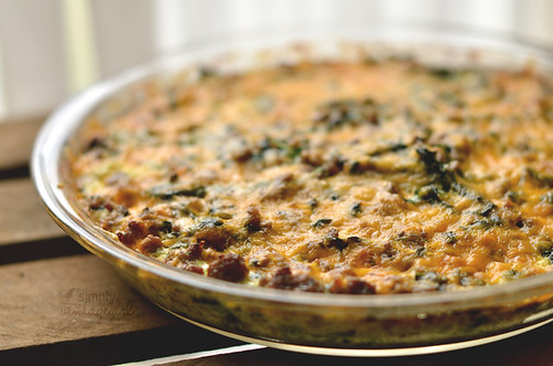 Hamburger Spinach Quiche | by Simply Vintagegirl
