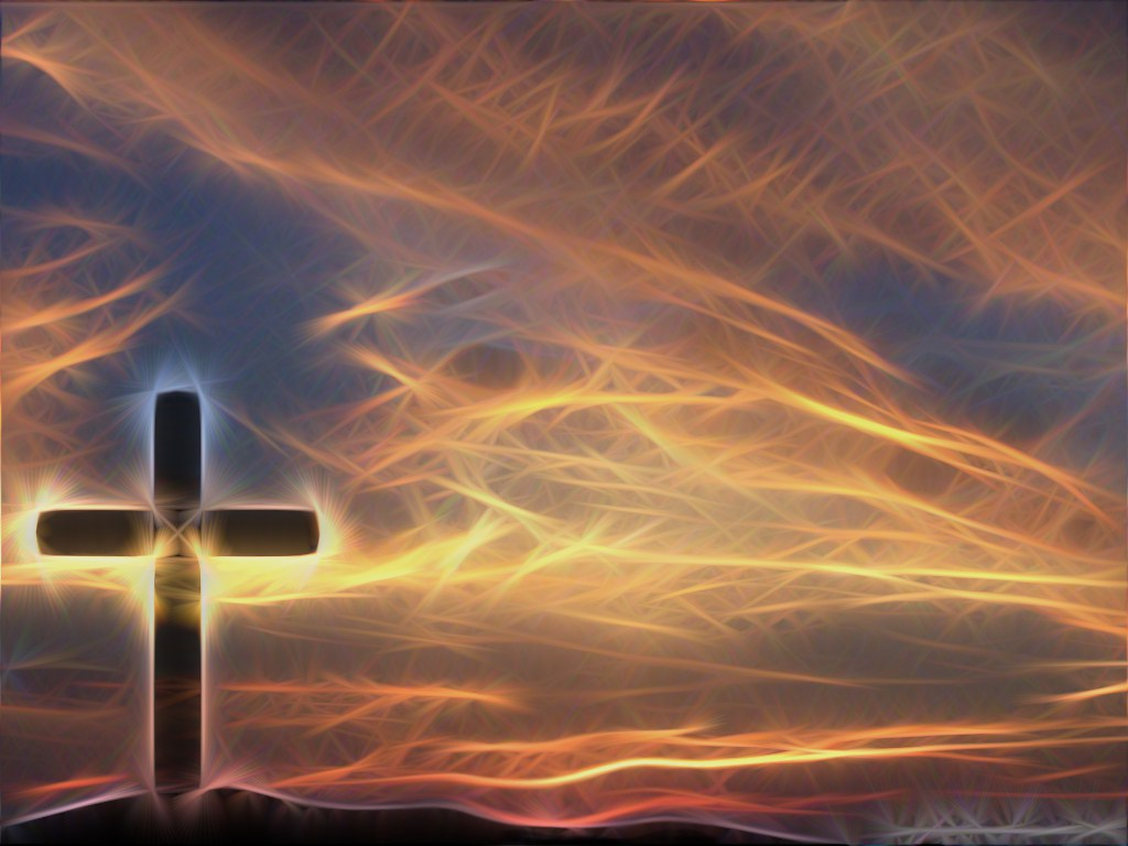 Cross & Sky Christian Wallpaper Background A GIMP Edit Of