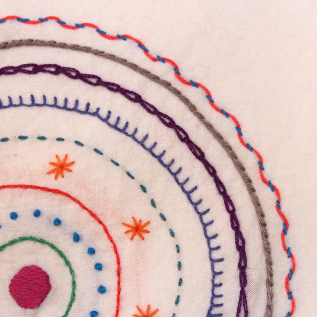 Mandala close up a simple embroidery pattern of