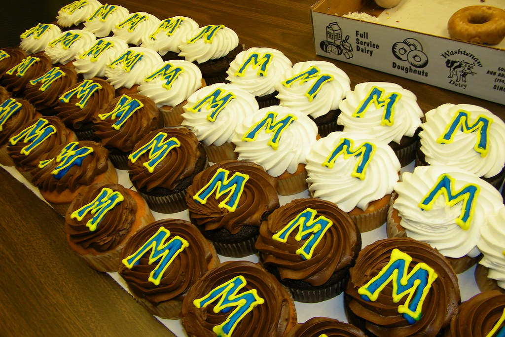 Giant Michigan Cupcakes from Costco