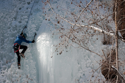 Aspens and Ice in the Scottish Gullys - Ouray Ice Park | by Amicus Telemarkorum