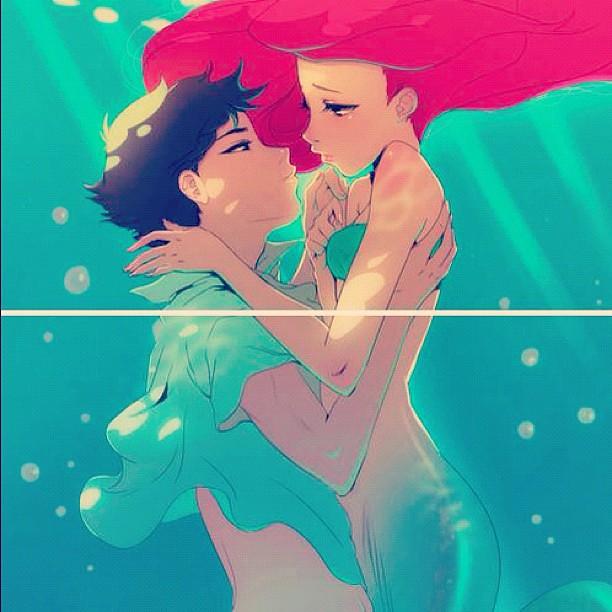 This Is So Pretty Art Anime Mermaid Littlemermaid Flickr