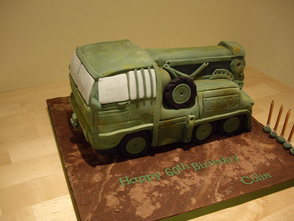 Army truck cake!  www.foxycakes.co.uk Luxury birthday cakes ...
