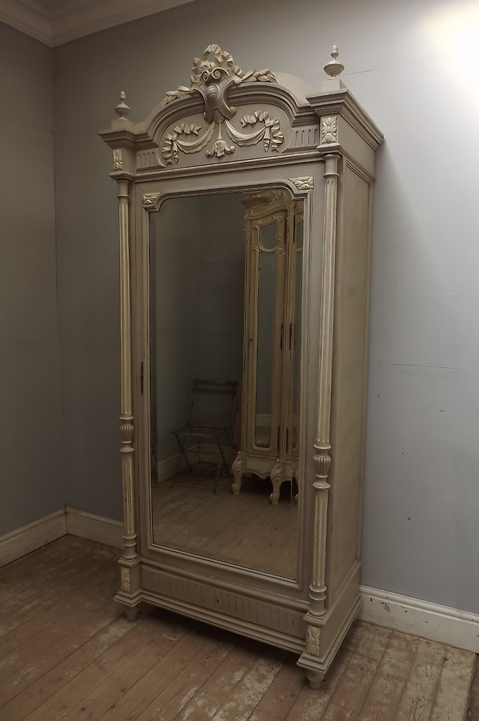 antique french louis xvi single door armoire shabby chic b flickr. Black Bedroom Furniture Sets. Home Design Ideas