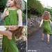 jungle ruffle dress collage