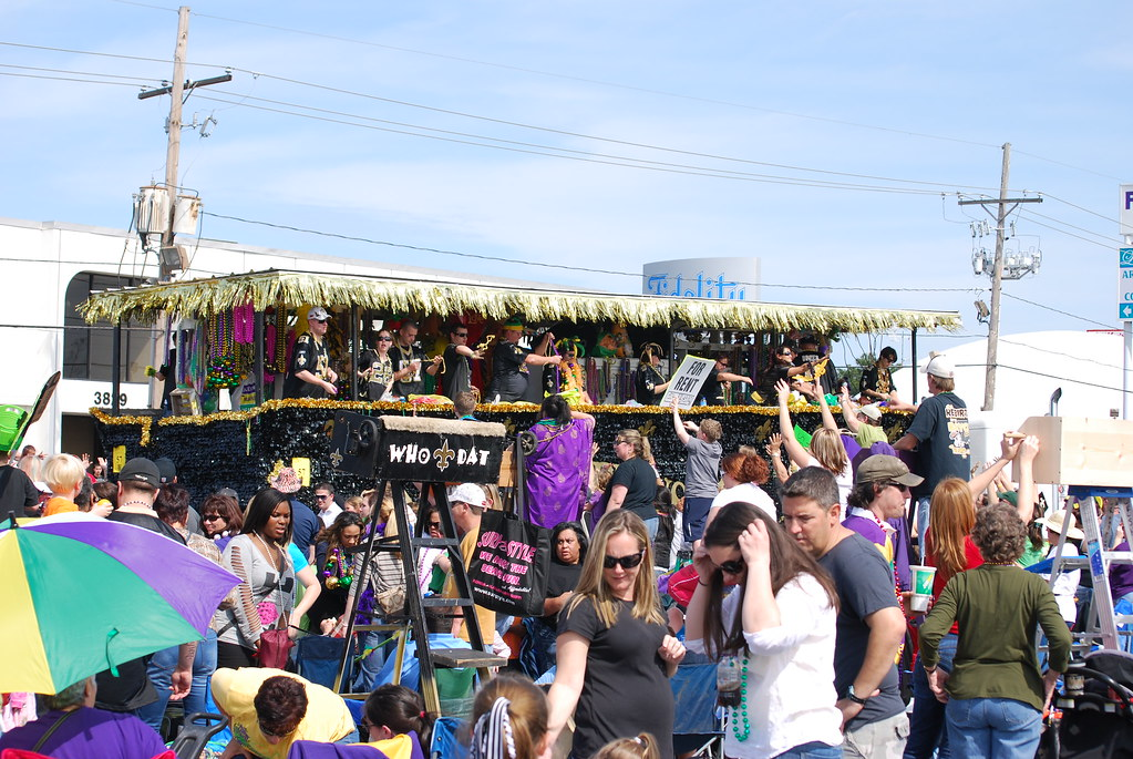 Who Dat Truck Float Mardi Gras 2012 In Metairie