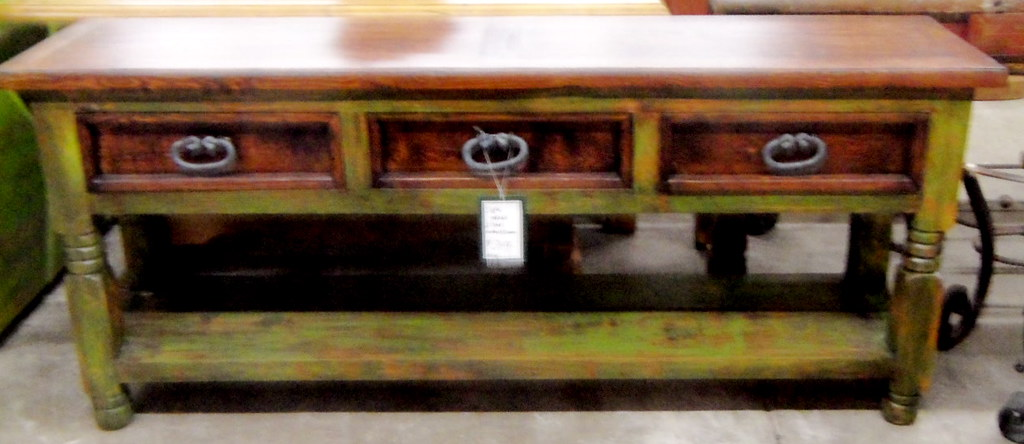 Billy sofa table in 2 tone colors 6ft long sofa or entry for 6ft sofa table