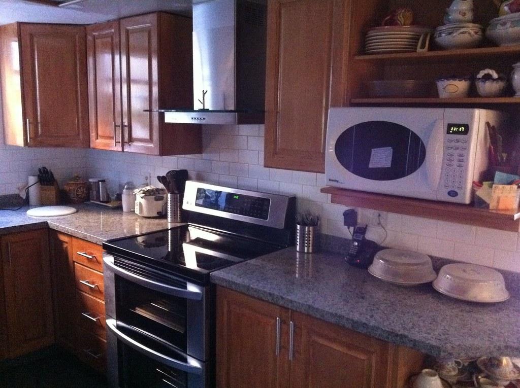 Kitchen remake 1 new granite countertops double oven for Kitchen remake