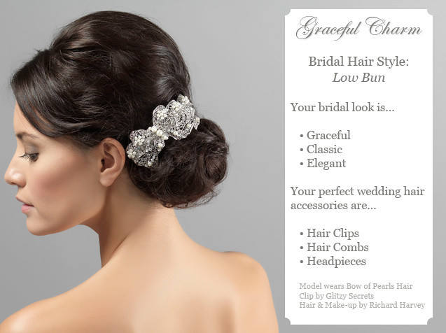 Bridal Hairstyle: Low Bun