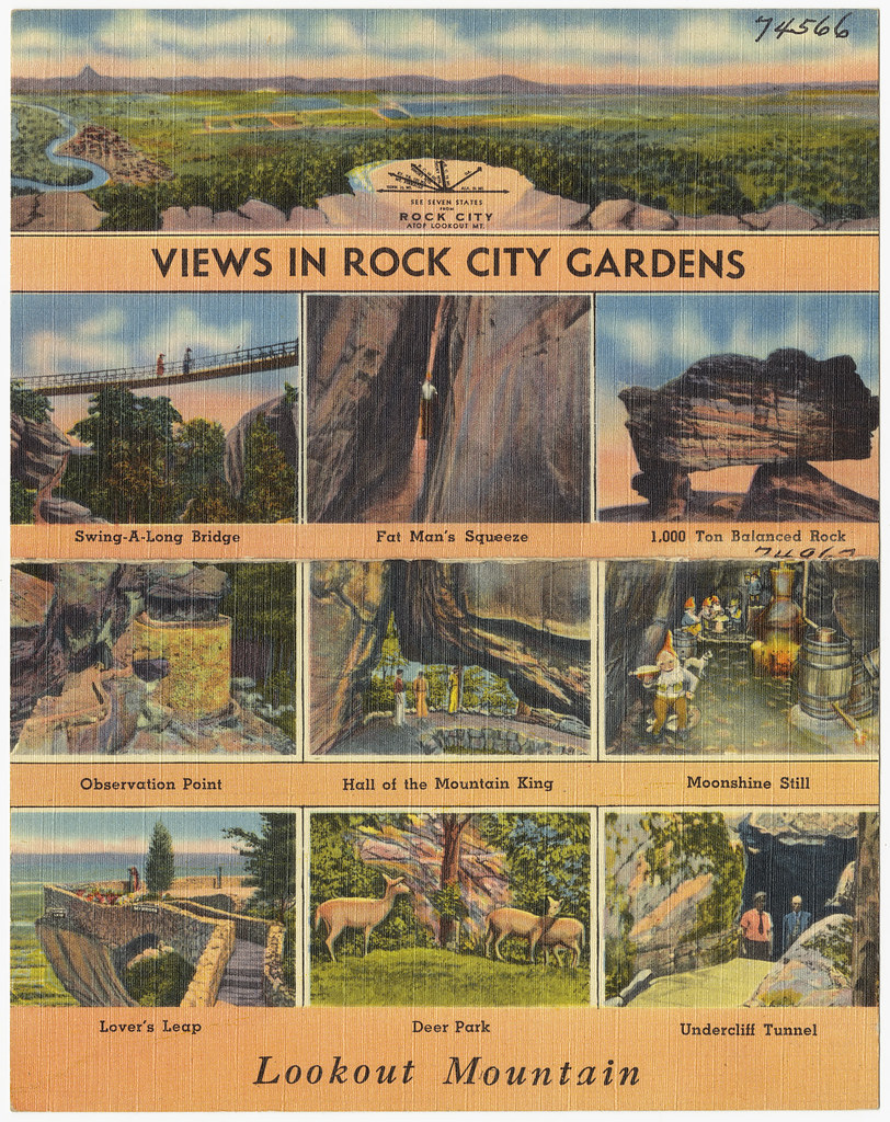 Views in Rock City Gardens, Lookout Mountain | File name ...