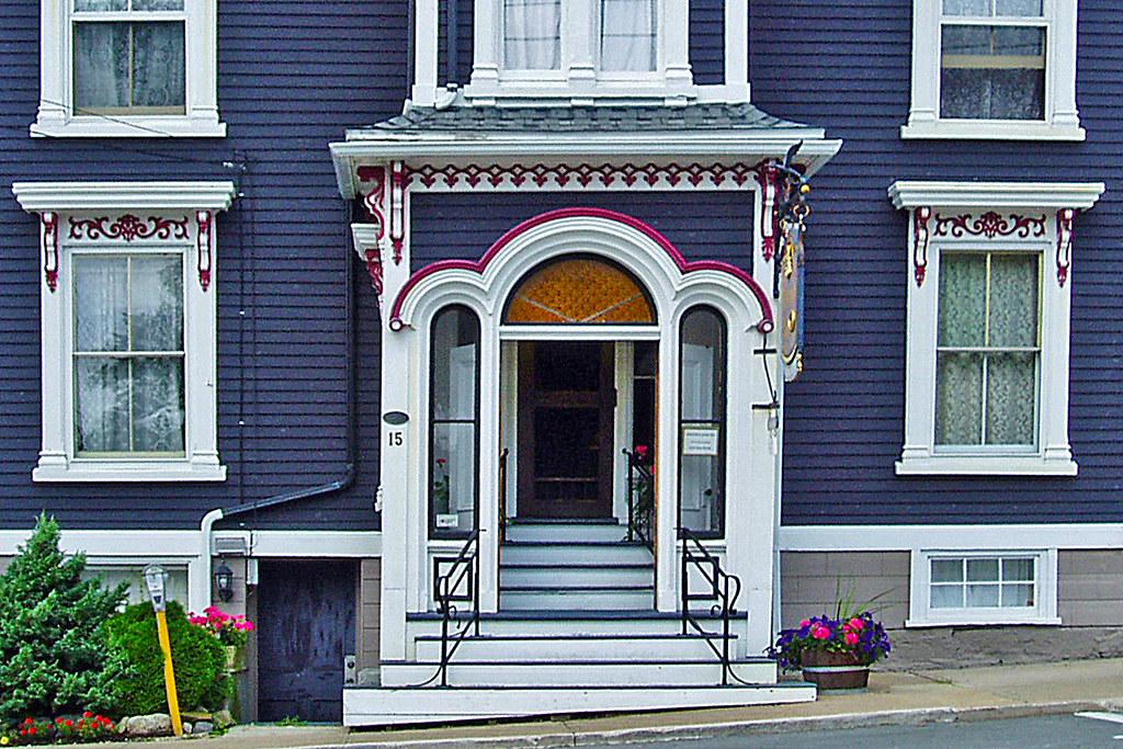 Blue house with white trim lunenburg nova scotia - White house with blue trim ...