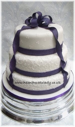 Cadbury Purple  Tier Wedding Cake