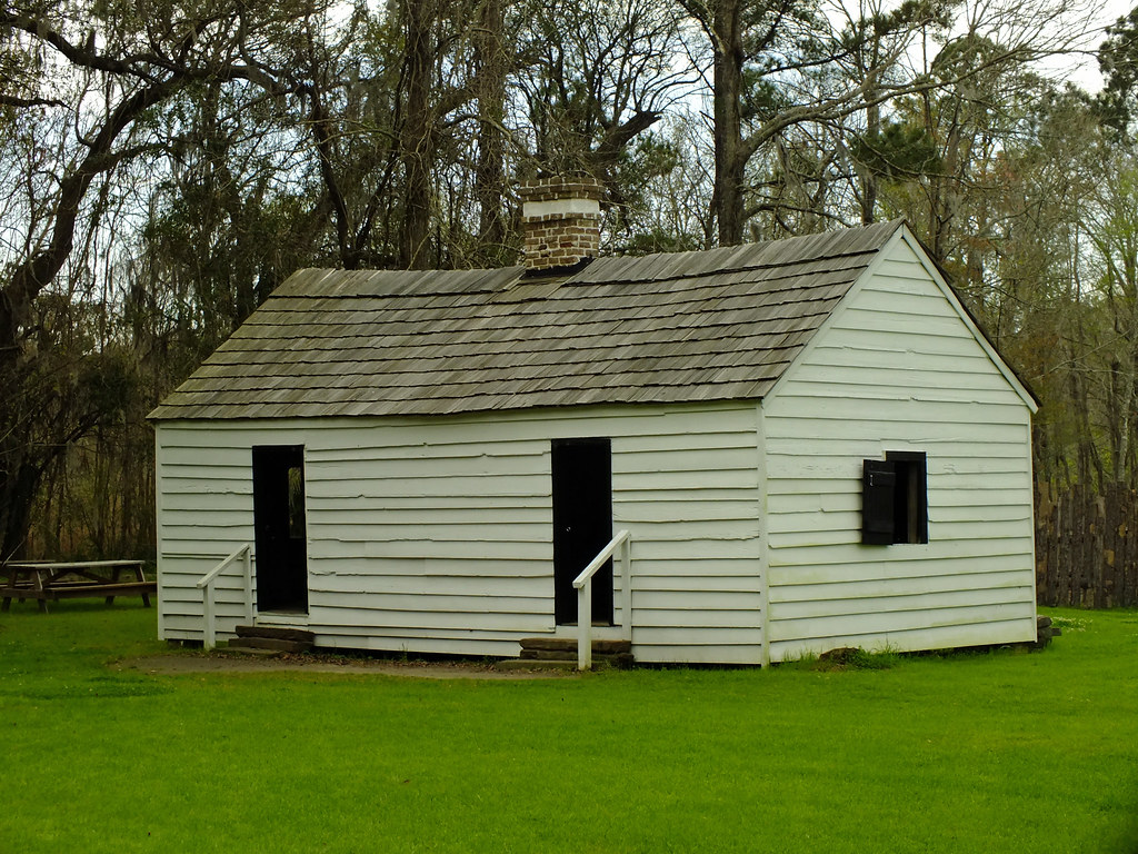 Old Slave Houses Magnolia Plantation South Carolina