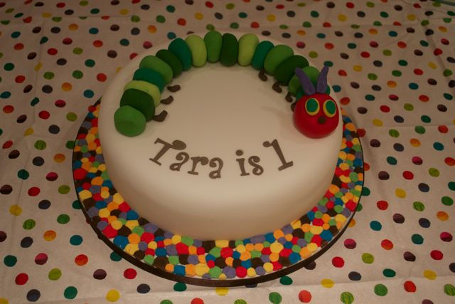 Make Very Hungry Caterpillar Birthday Cake