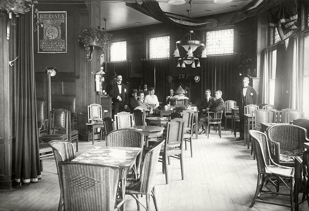 Rotterdam hotel victoria interieur 1919 uit fotoarchief for Interieur rotterdam