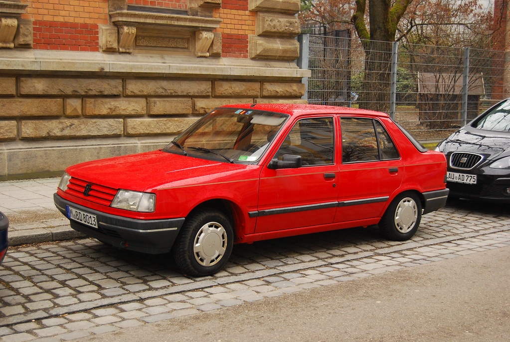 peugeot 309 seen on blutenburgstrasse in munich not sure flickr. Black Bedroom Furniture Sets. Home Design Ideas