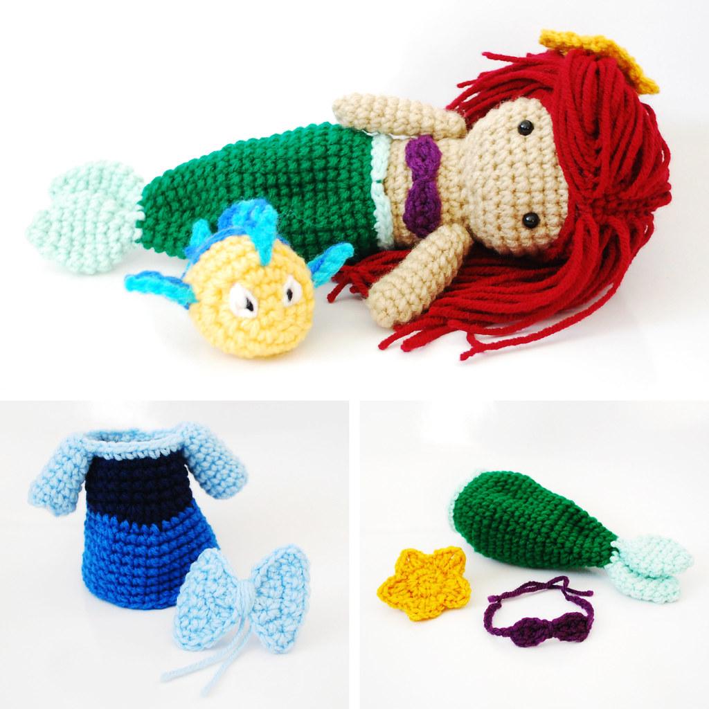 Amigurumi Hair Patterns : Ariel, The Little Mermaid. Crochet Amigurumi Doll. Flickr