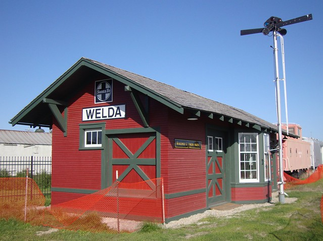 Old Welda Santa Fe Railroad Depot Topeka Kansas