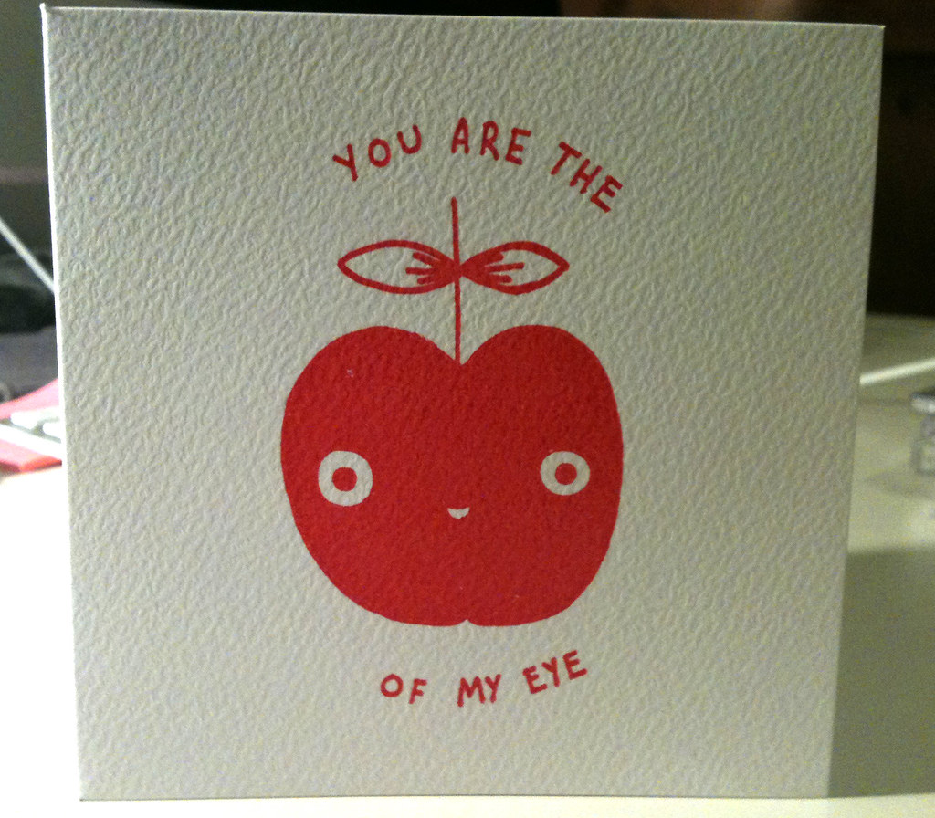 You Are The Apple of My Eye Card | Available here - www ...