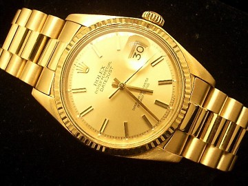 Mens Rolex Solid 18k Gold Datejust President Champagne ...