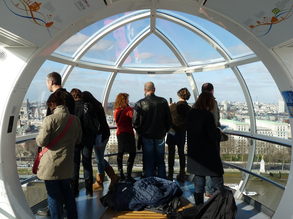 London Eye Capsule Inside One Of The Capsules On The