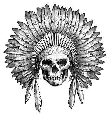 Native american indian skull headdress NUn Flickr