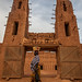 the great mud mosque of bani, in the tribal region of the Sahel, northern Burkina Faso