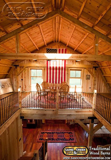 Interior Loft Sand Creek Post Beam Traditional Wood