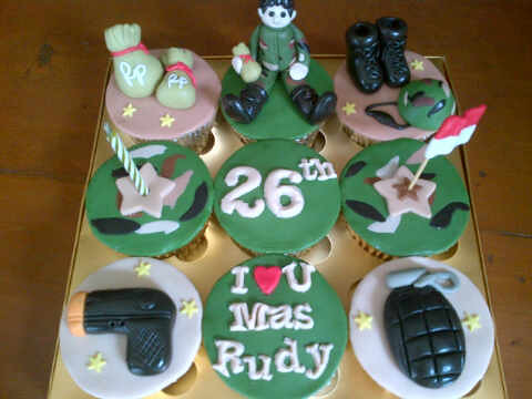 Army Themed Cakes Army Theme 9 Cupcakes by