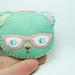 Mint curious nedry teddy felt brooch