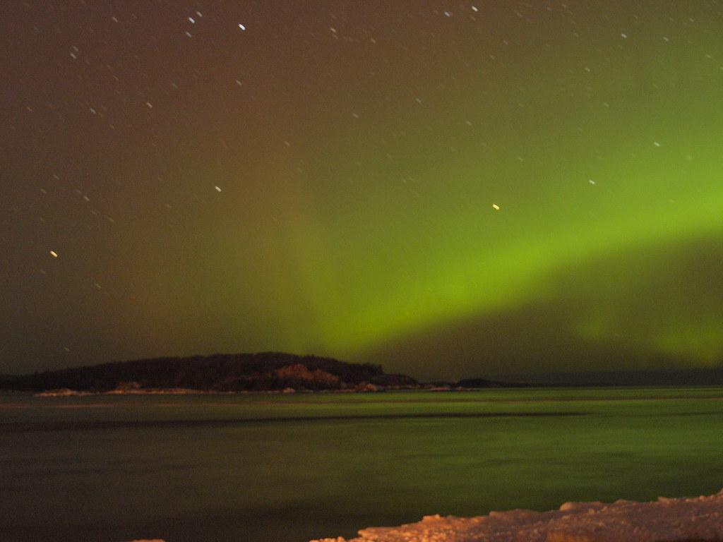 Auroras Over Little Presque Isle Auroras Over Little
