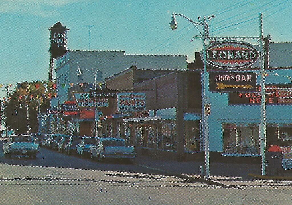 NE East Tawas MI 1960s Downtown Stores Businesses LEONARD ...