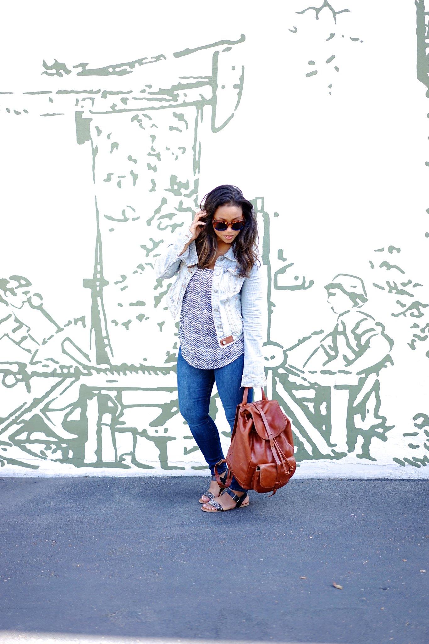 Light Denim Jacket and Zara Jeans