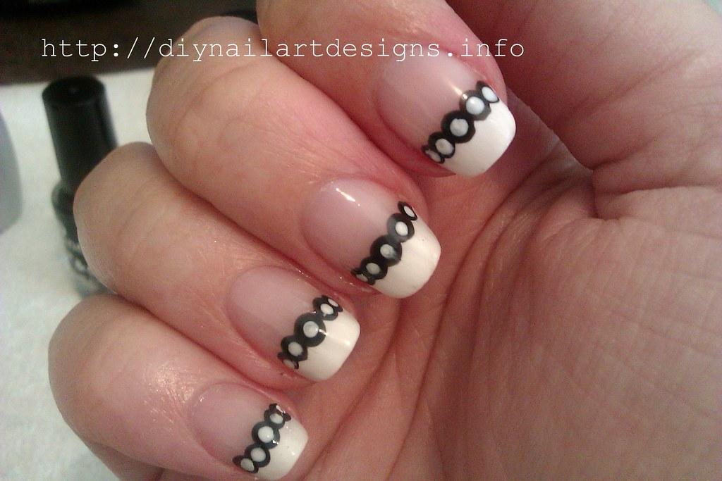 diy nail art designs effortless black and white polka dot flickr. Black Bedroom Furniture Sets. Home Design Ideas