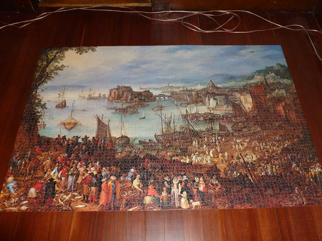 5000 piece puzzle the fishmarket by jan brueghel the. Black Bedroom Furniture Sets. Home Design Ideas