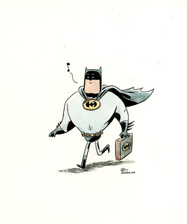 ONE HOUR DRAWING :: Off To Bat-Work | by Dustin Harbin