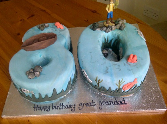 Fishing themed cake  Flickr - Photo Sharing!