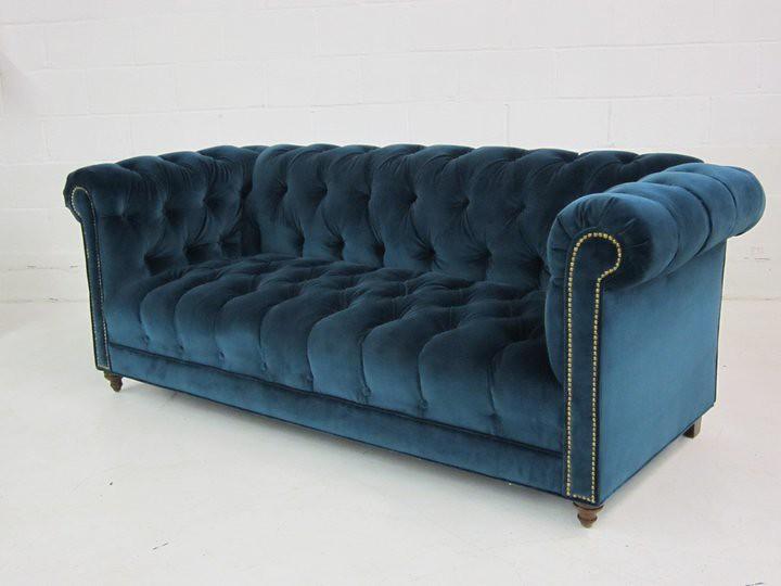 Custom Blue Velvet Chesterfield Sofa This Is A Custom Ches Flickr