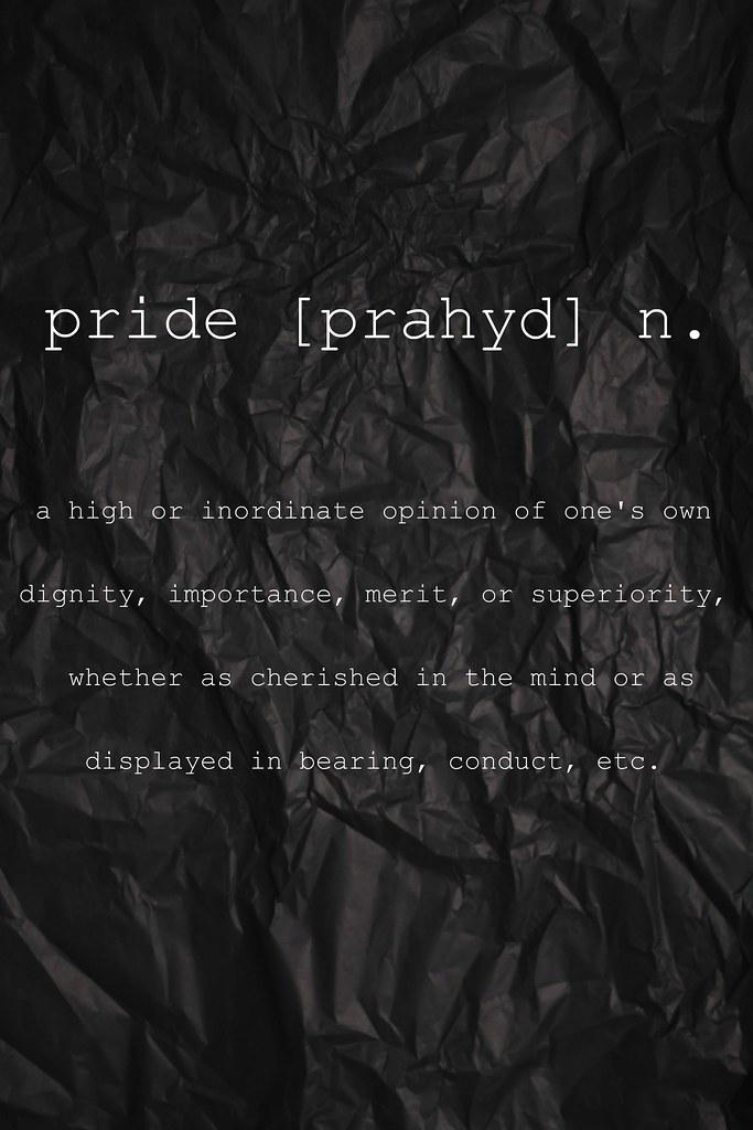 Image Result For Pride Definitiona