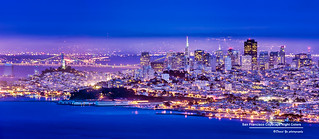 San Francisco Cityscape Night Colors | by davidyuweb